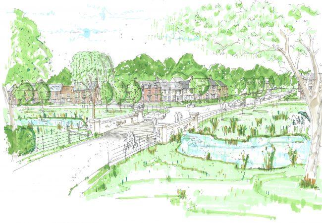 Village Gateway Sketch
