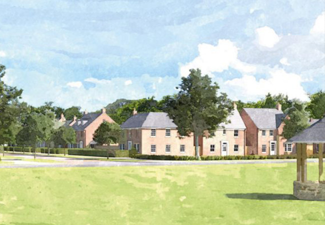 Burtree Garden Village Illustration
